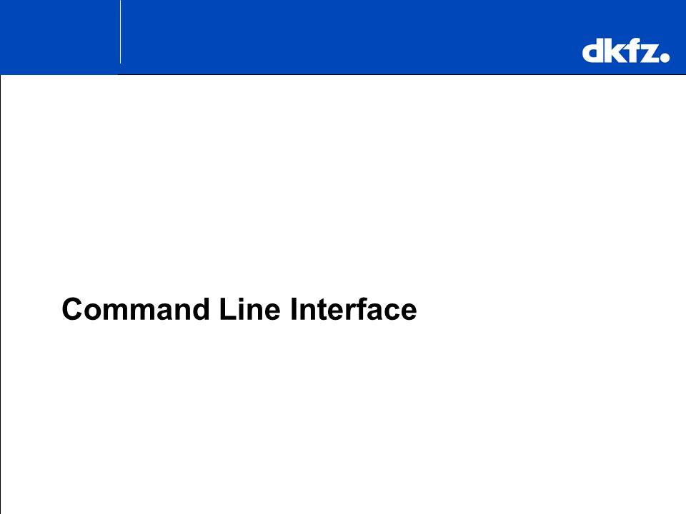 K.H. Maier-Hein Command Line Interface