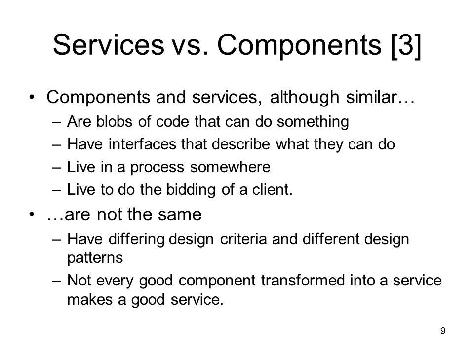 9 Services vs.