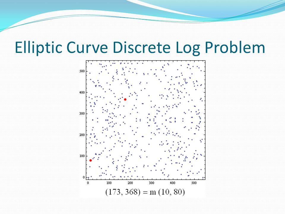 Elliptic Curve Discrete Log Problem