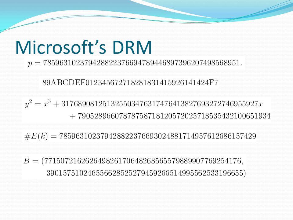 Microsoft's DRM