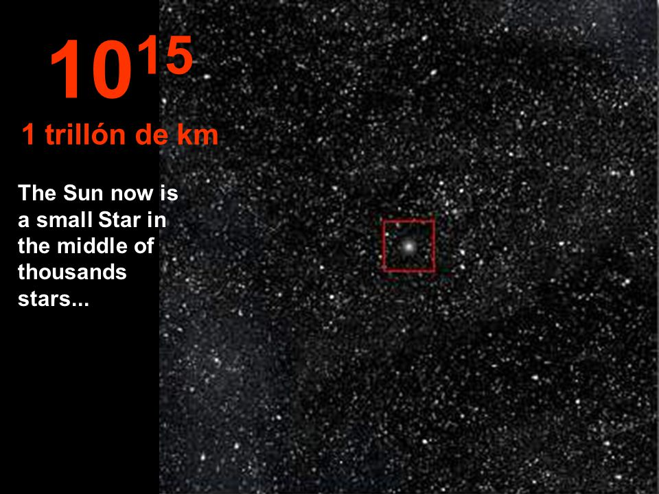 10 14 100 Billons de km The Solar System start looking small...