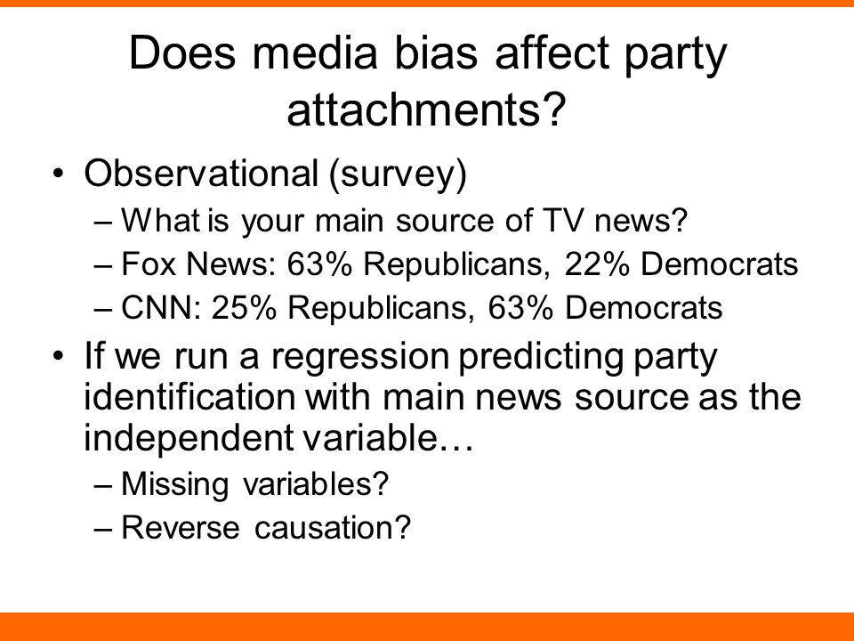 Does media bias affect party attachments.