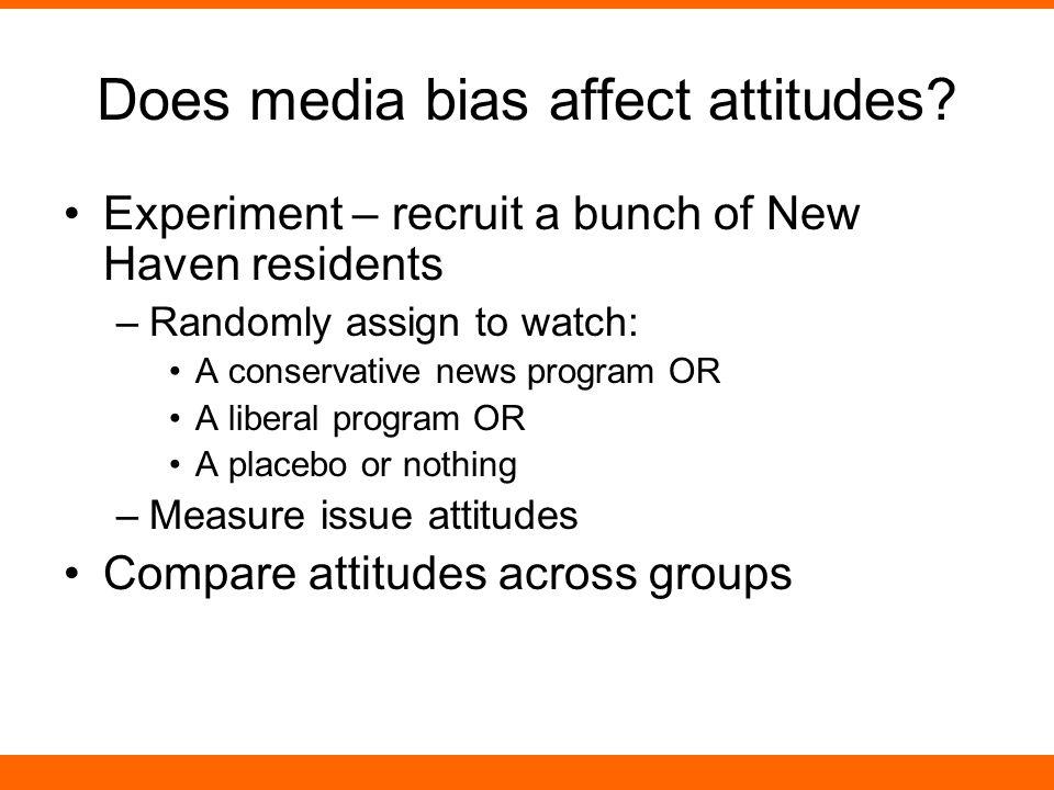 Does media bias affect attitudes.