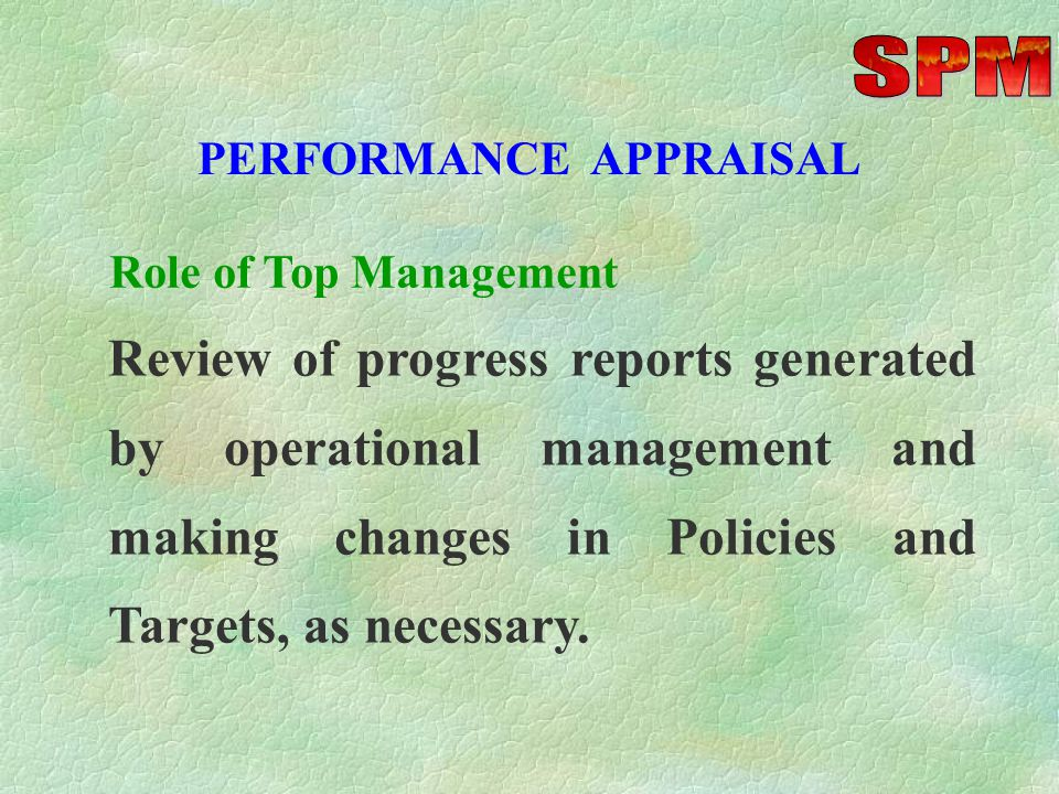 PERFORMANCE APPRAISAL Actual v Plan Date (s) T & D Needs Performance Ratings