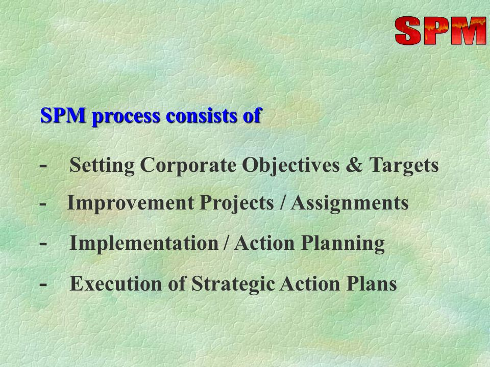 PERFORMANCE PLANNING Preparing Implementation (action) Plans for selected projects -Cost estimation -Revenue generation target setting -Defining saving targets - costs, time & effort -Performance levels / benchmarking Role of Operational Management