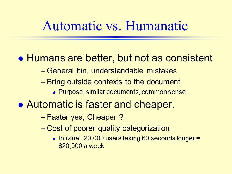 Automatic vs.