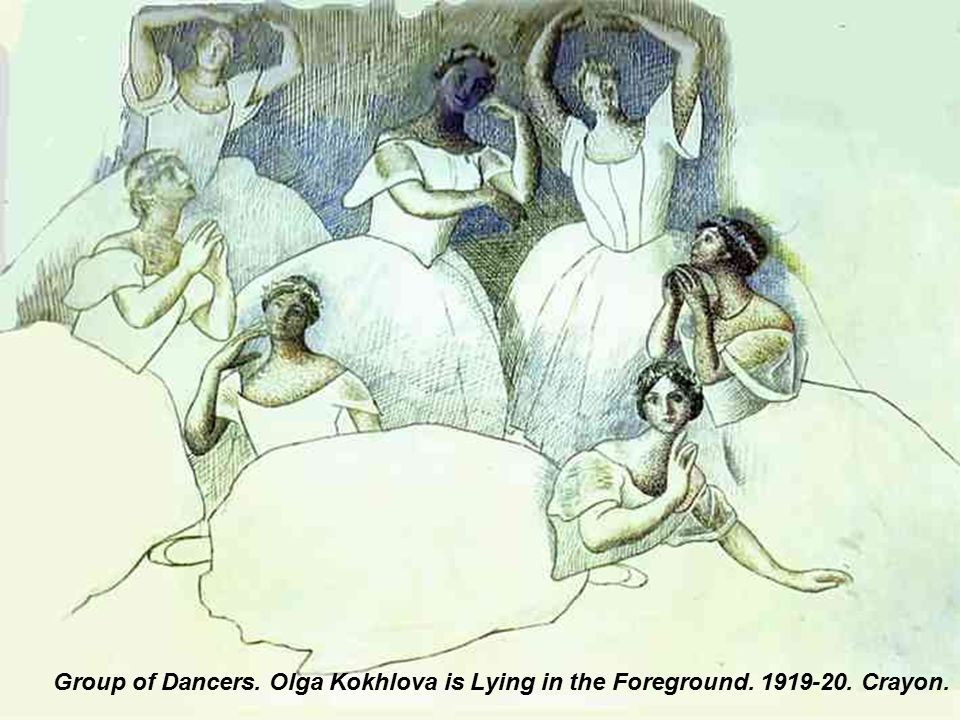 Three Dancers. 1919-1920. Pencil.