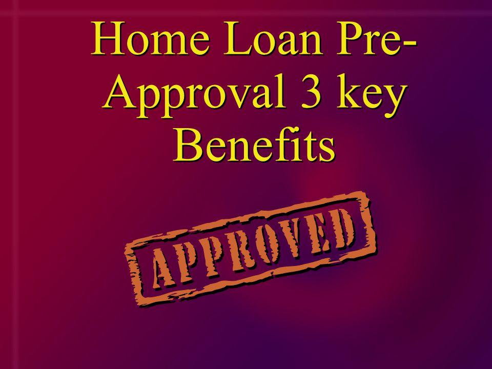 Home Loan Pre- Approval 3 key Benefits