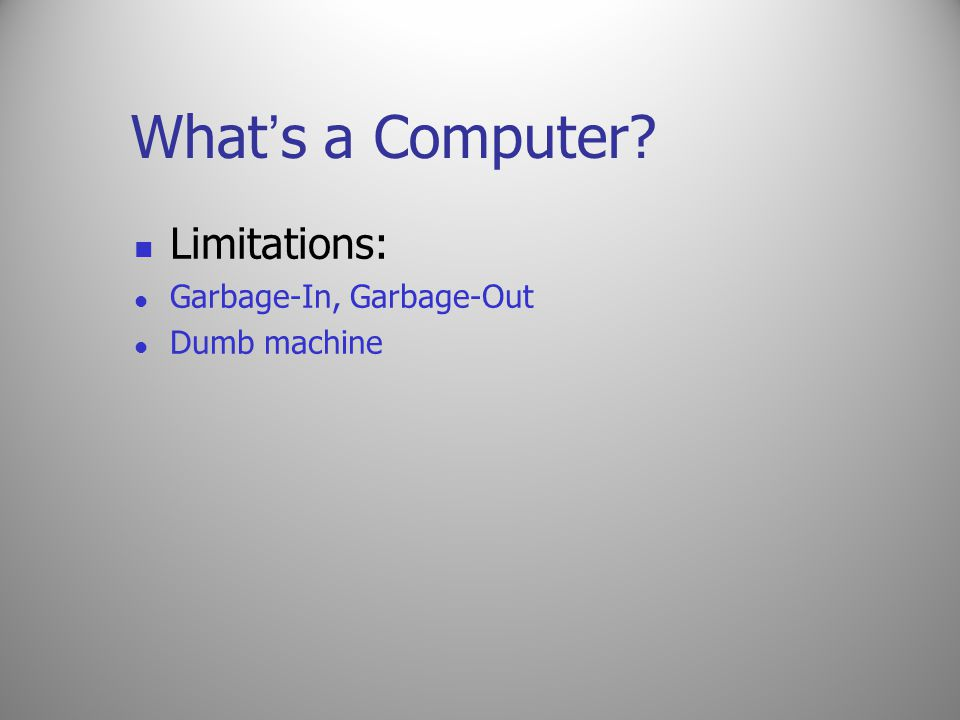 Evolution of Computers Manual Computing Devices: Sand table, Abacus, … Automated Computing Devices: difference engine, analytical engine, Colossus, … Charles Babbage: A professor of mathematics a the Cambridge University is considered to be the father of modern computer.