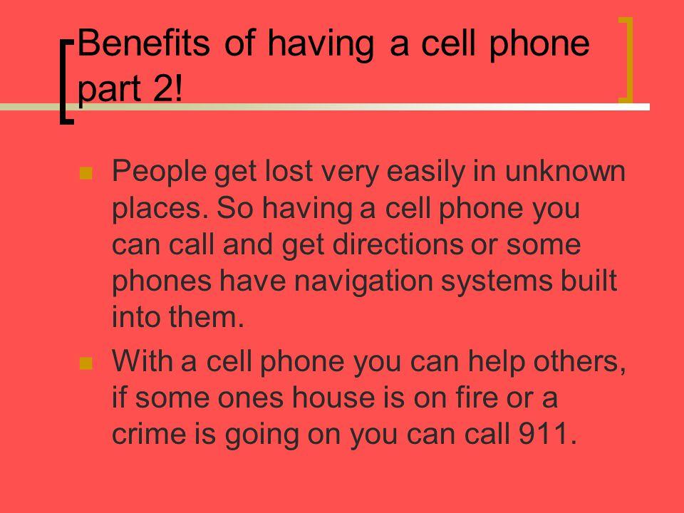 Negative impact cell phones make.