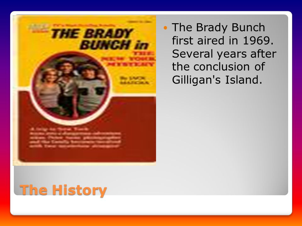 The History The History The Brady Bunch first aired in 1969.