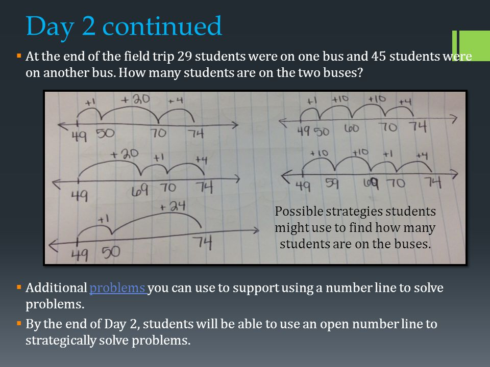 Day 3  Essential question: How can I strategically decompose ones to add and subtract numbers.