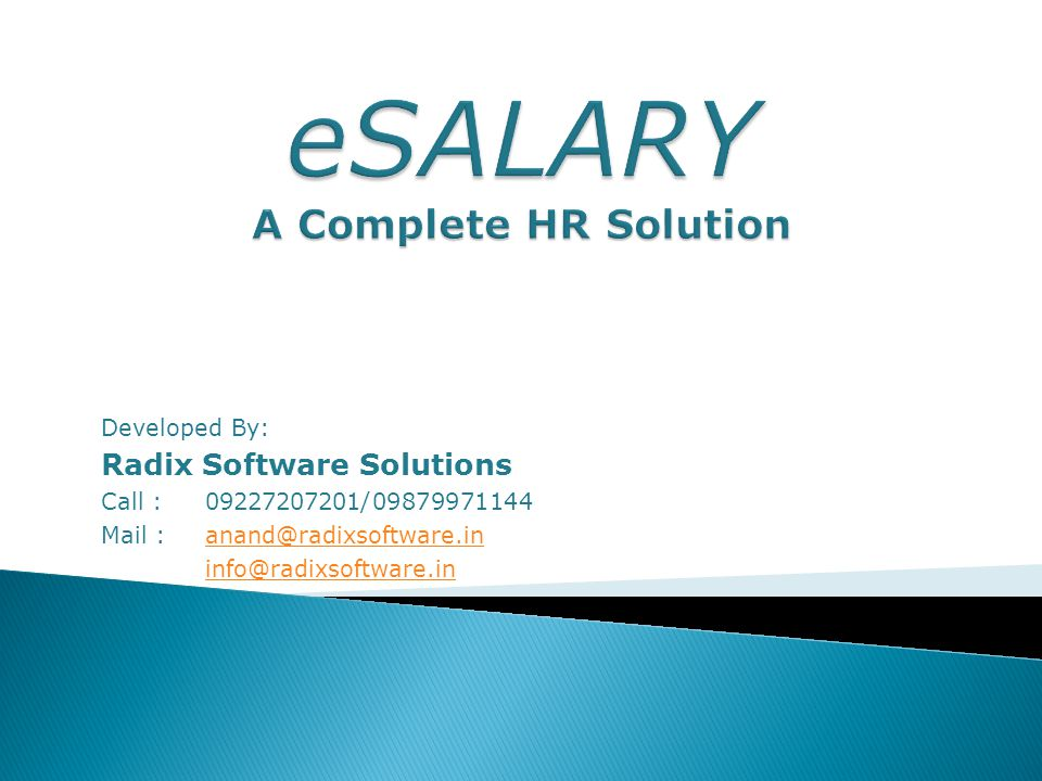 Radix Software Solutions Call : 09227207201 Email : anand@radixsoftware.in