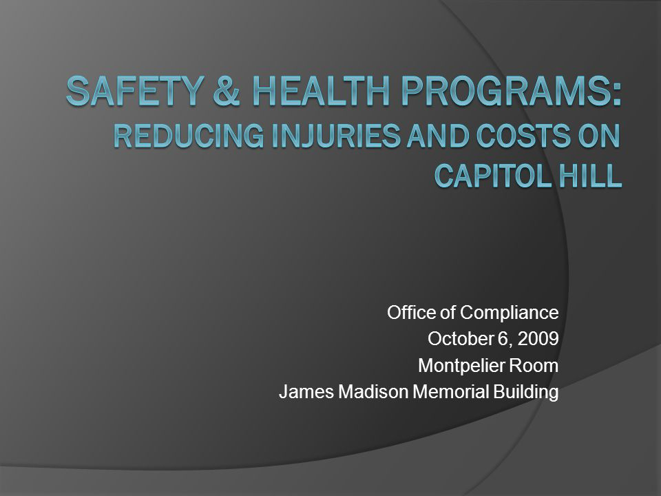 Safety Pays: Safety Management Systems and Cost Avoidance Presented by: Jim Johnson National Safety Council Senior Director, Workplace Initiatives