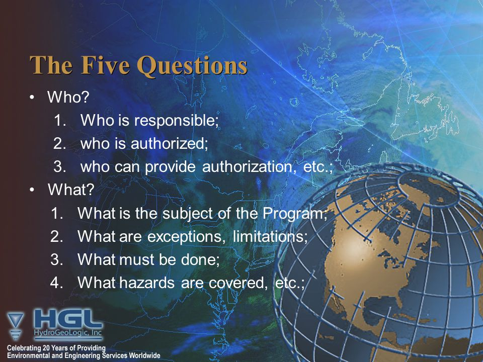 The Five Questions Who.