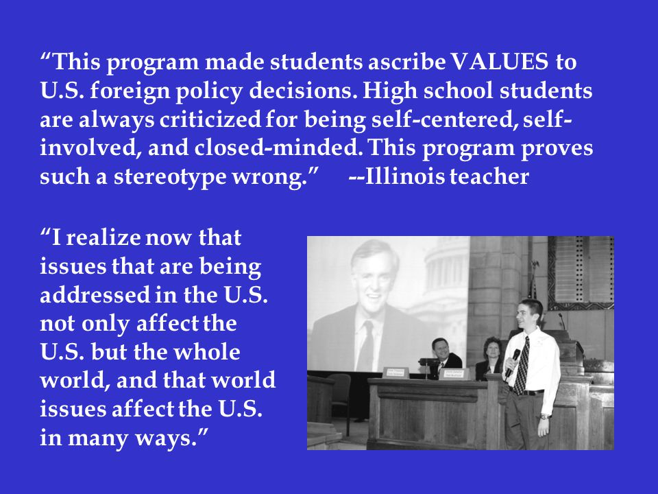 This program made students ascribe VALUES to U.S.