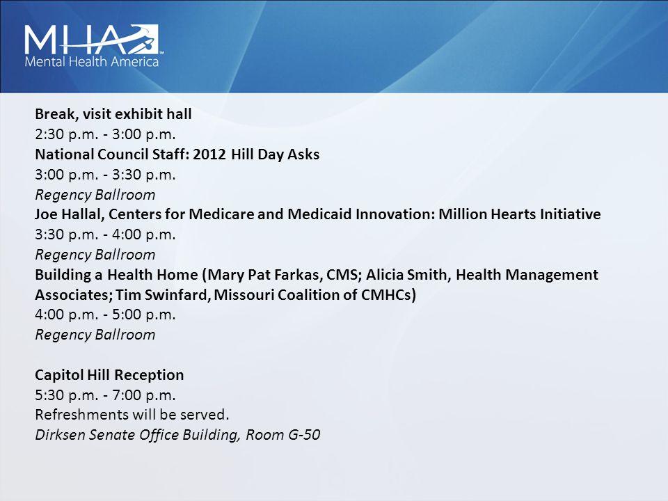 Break, visit exhibit hall 2:30 p.m. - 3:00 p.m.