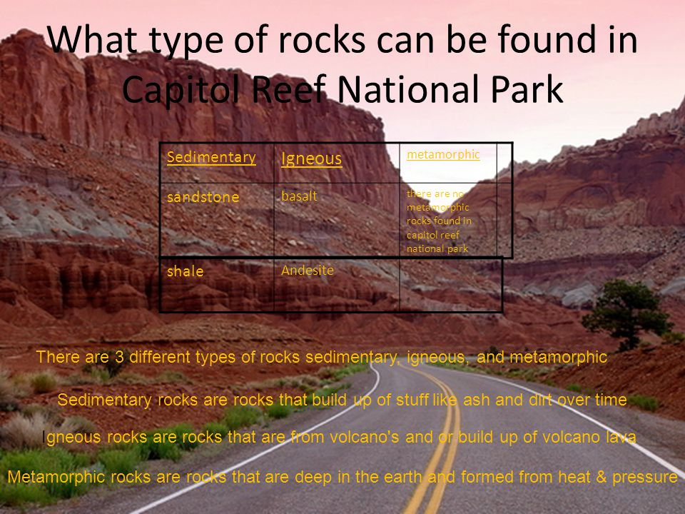What special landforms and features can be found inside your park The Waterpocket Fold is a nearly 100-mile long warp in the Earth s crust.