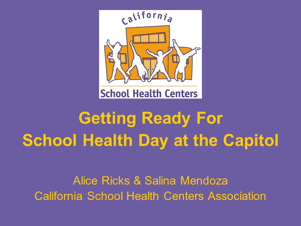 Objectives 1.Identify our goals for School Health Day.