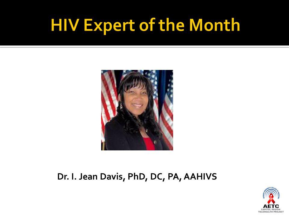 Dr. I. Jean Davis, PhD, DC, PA, AAHIVS