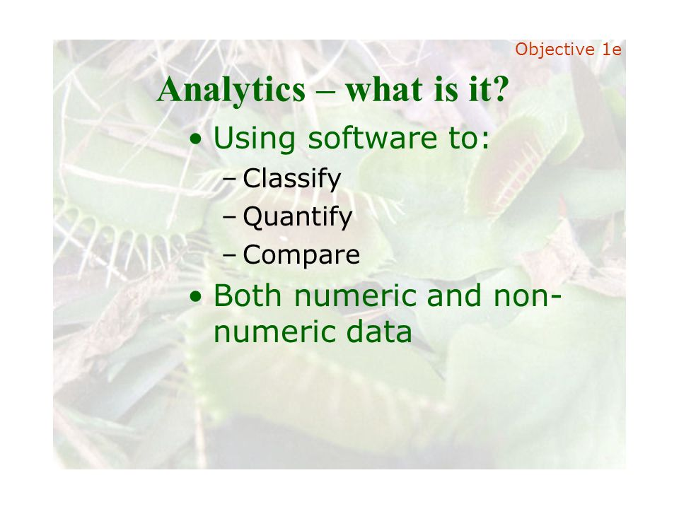 Slide 22 Joint meeting of the RDU IIA and ISACA chapters November 11, 2008, Capitol Club, Raleigh, NC Analytics – what is it.