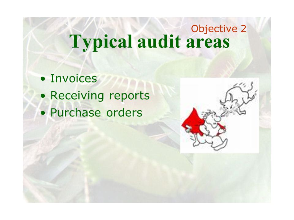 Slide 63 Joint meeting of the RDU IIA and ISACA chapters November 11, 2008, Capitol Club, Raleigh, NC Typical audit areas Invoices Receiving reports P