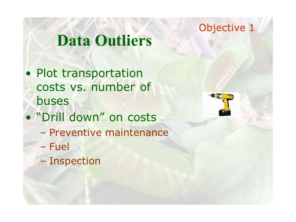 Slide 9 Joint meeting of the RDU IIA and ISACA chapters November 11, 2008, Capitol Club, Raleigh, NC Data Outliers Plot transportation costs vs. numbe