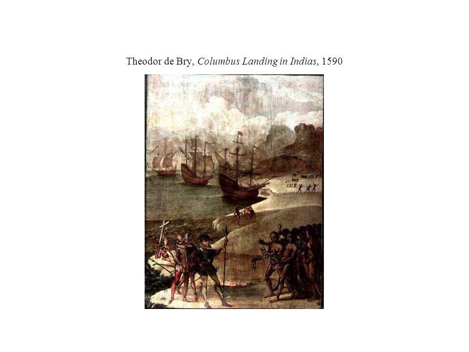 Theodor de Bry, Columbus Landing in Indias, 1590