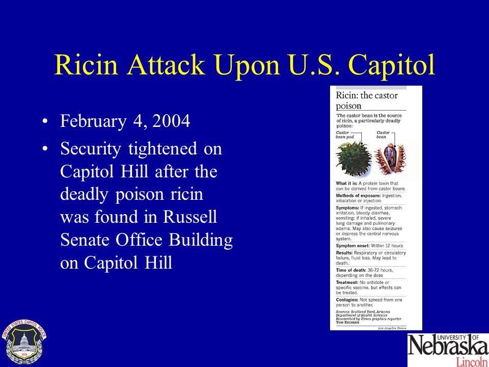 Ricin Attack Upon U.S.