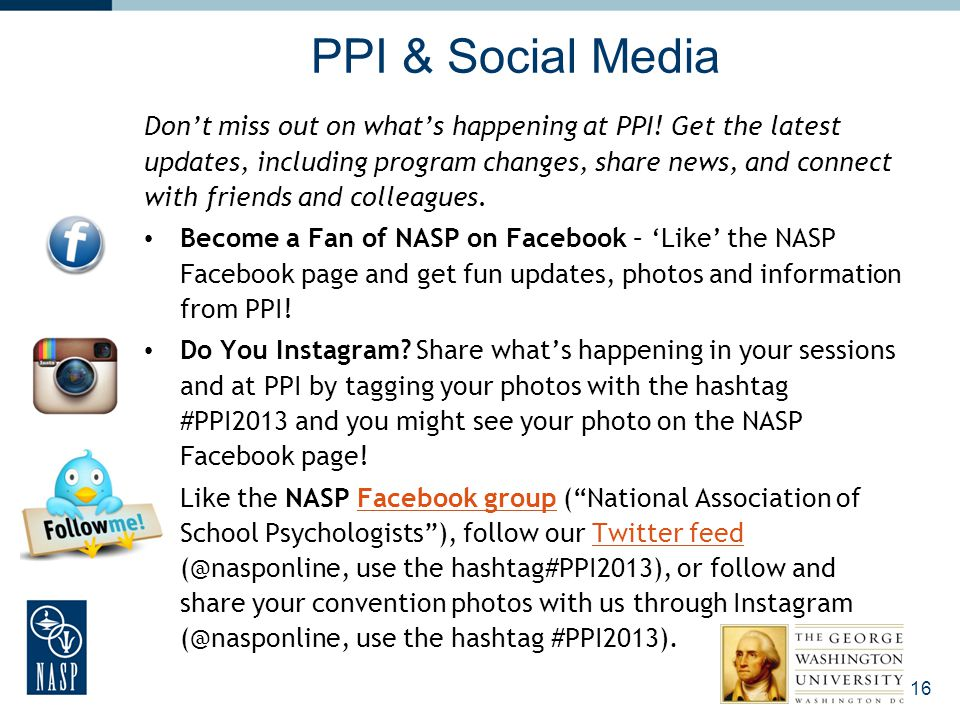 PPI & Social Media Don't miss out on what's happening at PPI! Get the latest updates, including program changes, share news, and connect with friends