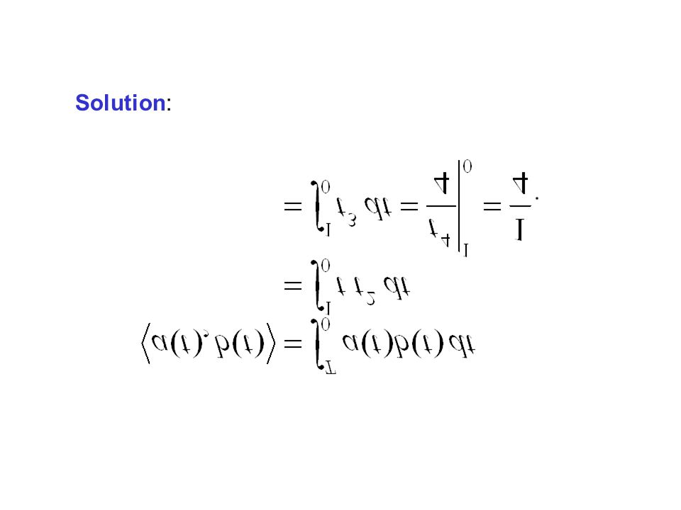Example: Find the inner product of the following two functions: