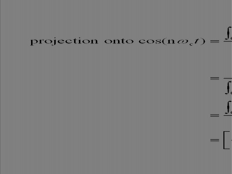 So the summation of the projections is Or, where