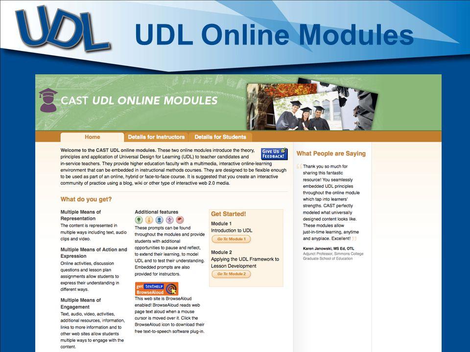 UDL Online Modules