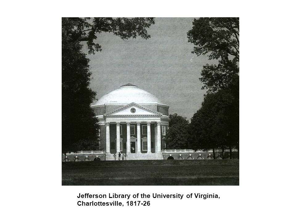 Jefferson Library of the University of Virginia, Charlottesville, 1817-26