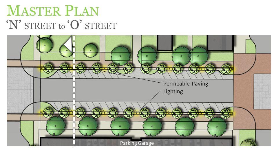 M ASTER P LAN 'N' STREET to 'O' STREET Permeable Paving Parking Garage Lighting