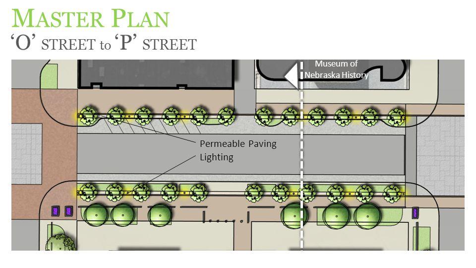 M ASTER P LAN 'O' STREET to 'P' STREET Museum of Nebraska History Permeable Paving Lighting