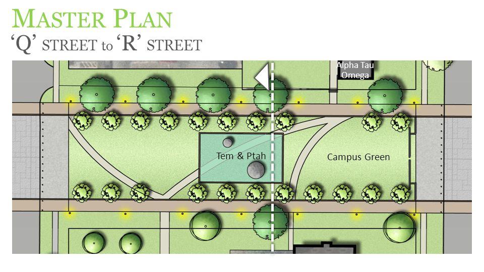 M ASTER P LAN 'Q' STREET to 'R' STREET Alpha Tau Omega Campus Green Tem & Ptah