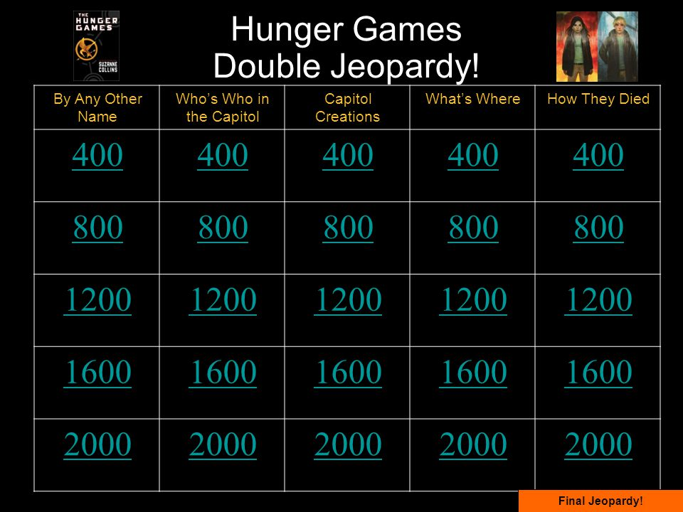 Hunger Games Double Jeopardy.