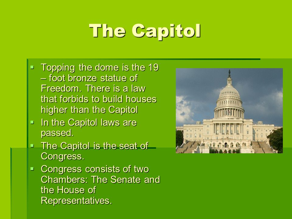 TTTTopping the dome is the 19 – foot bronze statue of Freedom.