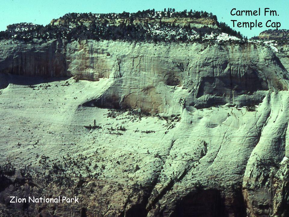 Zion National Park Carmel Fm. Temple Cap