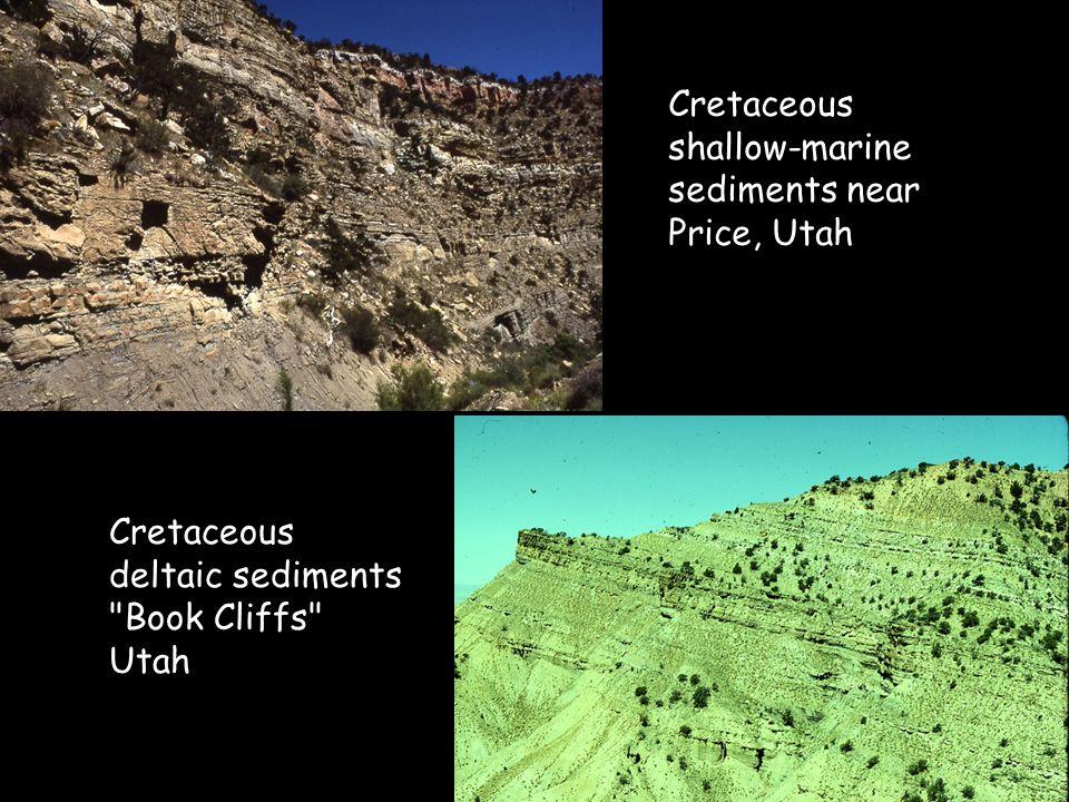 Cretaceous shallow-marine sediments near Price, Utah Cretaceous deltaic sediments Book Cliffs Utah