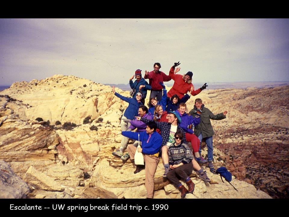 Escalante -- UW spring break field trip c. 1990