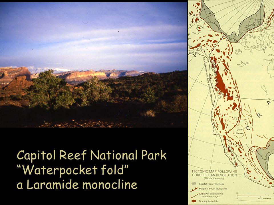 Capitol Reef National Park Waterpocket fold a Laramide monocline