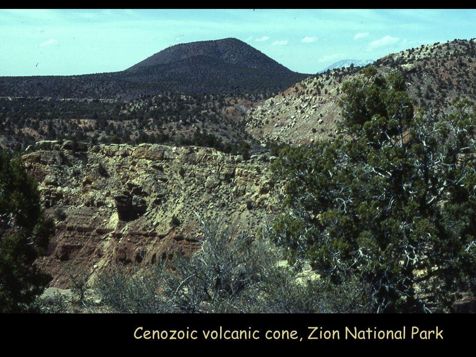 Cenozoic volcanic cone, Zion National Park