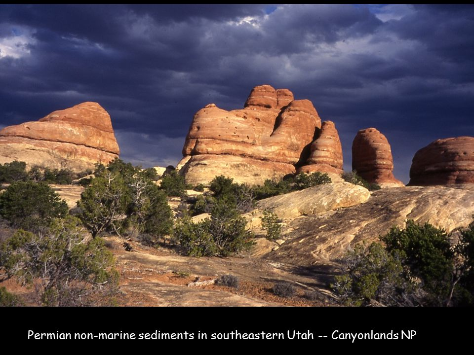 Permian non-marine sediments in southeastern Utah -- Canyonlands NP