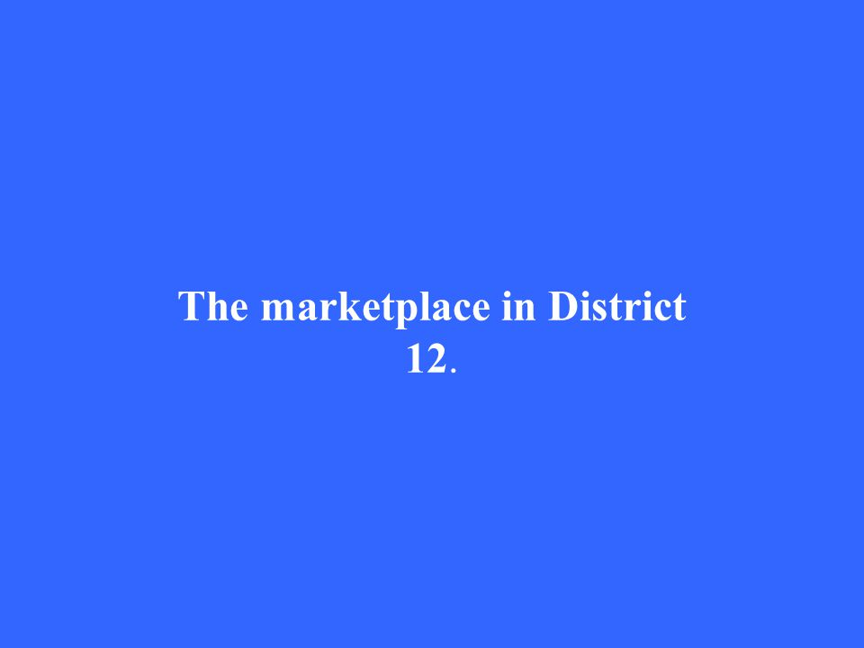 The marketplace in District 12.