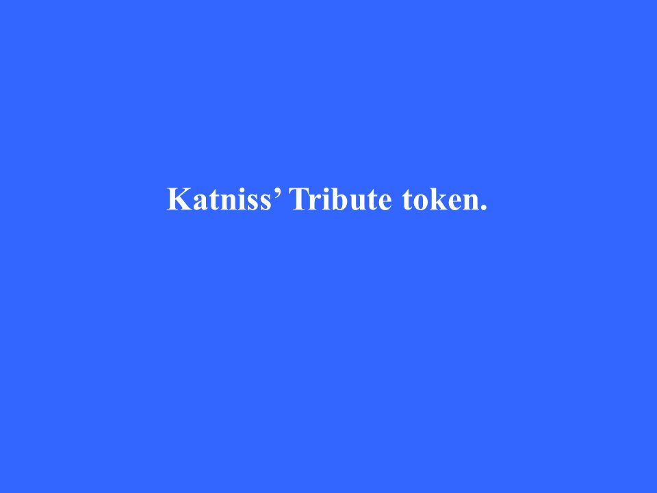 Katniss' Tribute token.