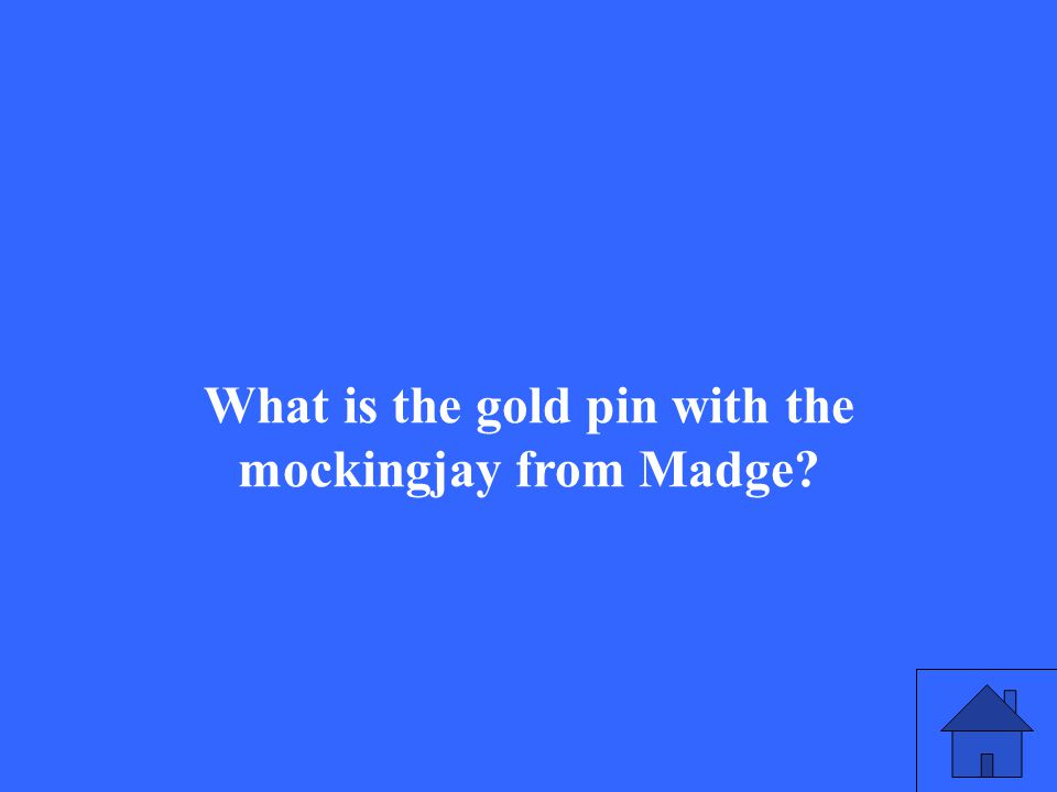 What is the gold pin with the mockingjay from Madge