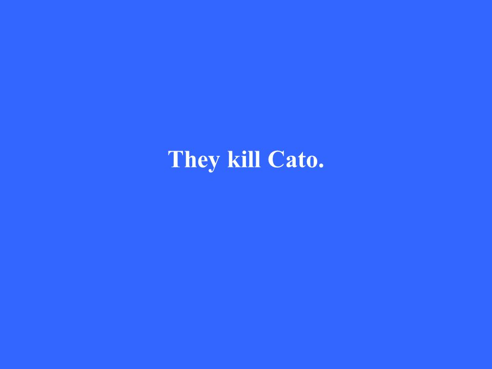 They kill Cato.