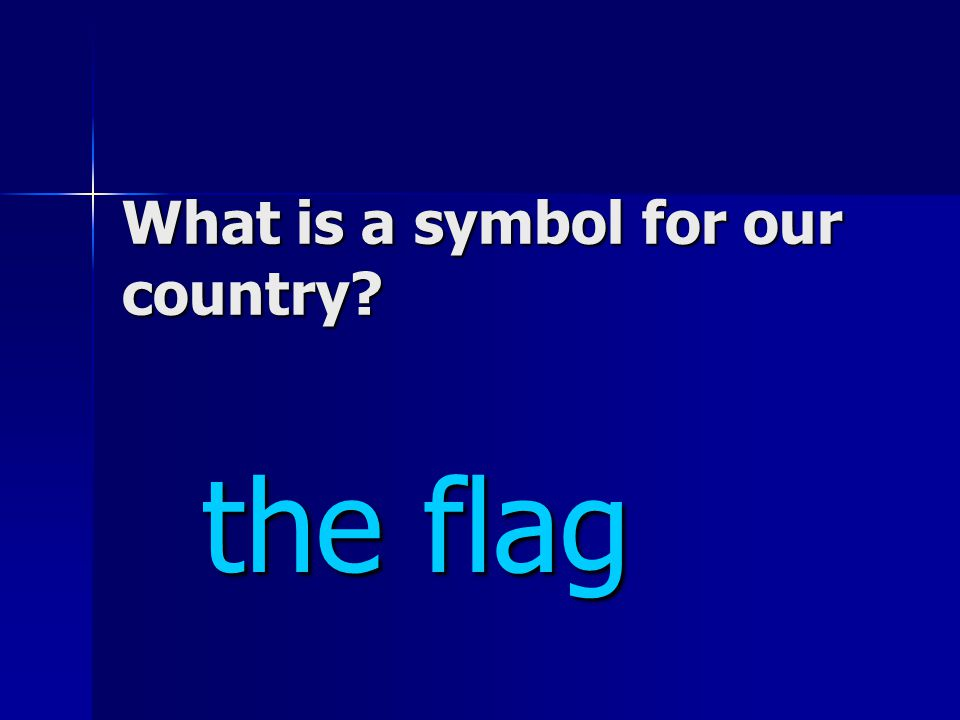 What is a symbol for our country the flag the flag